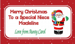 Personalised Christmas Chocolate Bar Wrapper  Design 1
